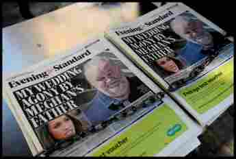 Thomas Markle Sr. on the cover of Evening Standard. Royal wedding drama Finding Freedom.
