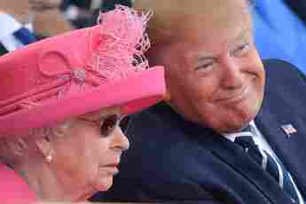 Revisiting Donald Trump's Meeting With Queen Elizabeth As President awkward moments pictures inspecting the guard tuxedo fashion photos 2021 joe biden UK trip