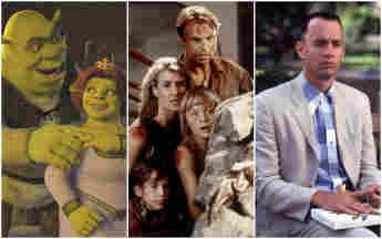 'Shrek', 'Jurassic Park', 'Forrest Gump'