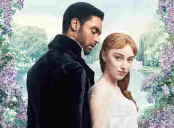 Regé-Jean Page and Phoebe Dynevor in a promotional image for the series 'Bridgerton'