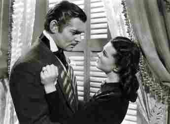 Clark Gable and Vivien Leigh in 'Gone with the Wind'