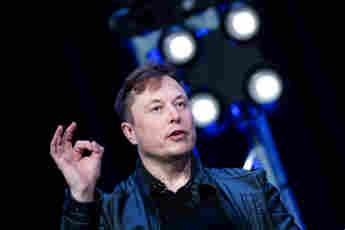 Elon Musk en el Washington Convention Center, 2020
