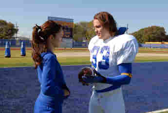 """Minka Kelly and Taylor Kitsch as """"Lyla"""" and """"Tim"""" in 'Friday Night Lights'"""