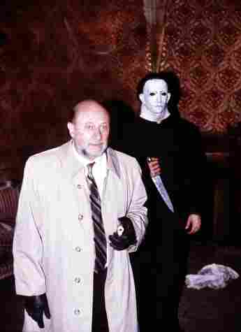 Donald Pleasance and Nick Castle