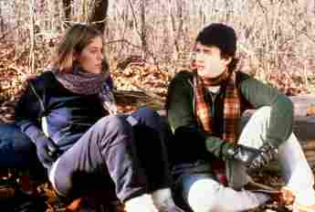 Elizabeth Kemp and Tom Hanks in 'He Knows You're Alone' in 1980.
