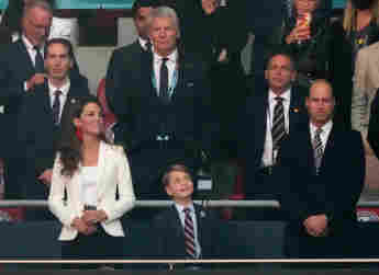 Duchess Kate, Prince George and Prince William at the European Championship final between England and Italy on July 11, 2021