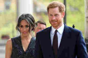 Duchess Meghan and Prince Harry at the memorial ceremony at St Martin-in-the-Fields in Trafalgar Square, London on April 23, 2018