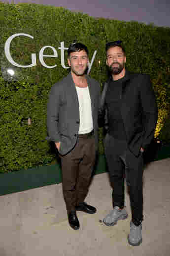 Jwan Yosef and Ricky Martin