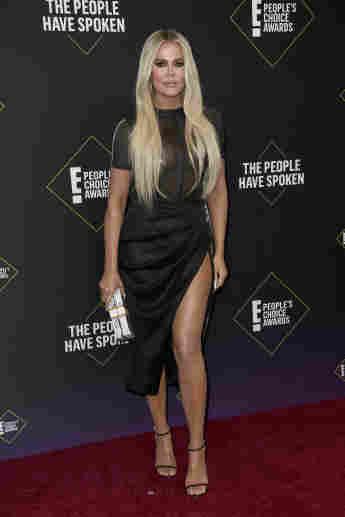 Khloé Kardashian attends the 2019 E! People's Choice Awards at Barker Hangar on November 10, 2019
