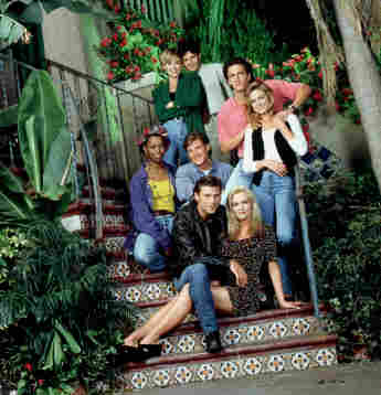 The Melrose Place cast, pictured in 1992.