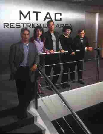NCIS cast (left to right) Mark Harmon, Sasha Alexander, Michael Weatherly, Pauley Perrette, David McCallum.