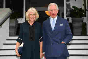 Prince Charles And Camilla Show Support For English Football Team