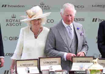 Prince Charles Assists Wife Duchess Camilla At 2021 Royal Ascot