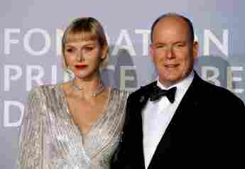Princess Charlene Of Monaco Stuns In Daring Sequin Gown At Monte-Carlo Gala