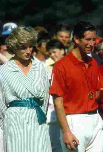 La princesa Diana y el príncipe Carlos en un torneo de polo en 1985.