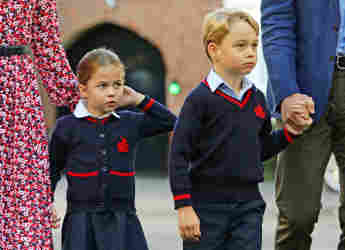 Princess Charlotte and Prince George to school school uniform