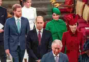 La familia real británica en una ceremonia religiosa