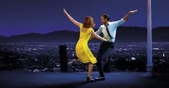 """Emma Stone and Ryan Gosling in the film, """"La La Land""""."""