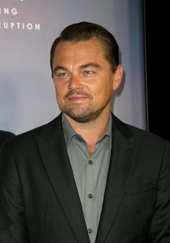 Leonardo DiCaprio at the 2019 premiere of 'Ice on Fire' in Los Angeles.