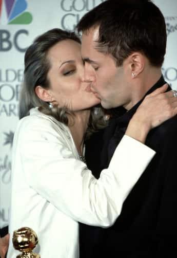 Angelina Jolie kisses her brother James Haven