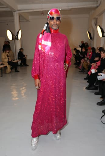 Billy Porter on the front row during the Ashish show at London Fashion Week 2020
