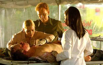 David Caruso, Khandi Alexander and Emily Proctor in 'CSI: Miami '
