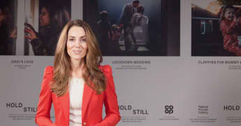 , Duchess of Cambridge thanks everybody who submitted a portrait to the 'Hold Still' project on November 13, 2020 in London, England.