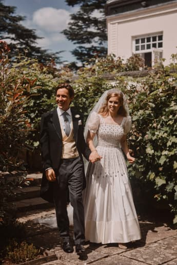 Princess Beatrice and Edoardo Mapelli Mozzi on their wedding day, 17 July 2020.