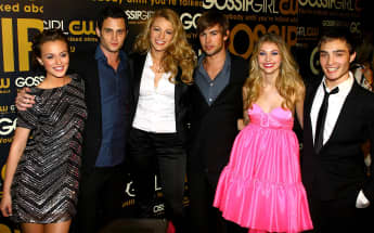 The cast of Gossip Girl at the series' launch party in New York, 2007.