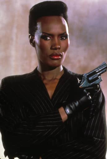 """Grace Jones as """"May Day"""" in the film 'A View to a Kill'"""