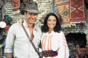"Harrison Ford and Karen Allen in ""Indiana Jones"""
