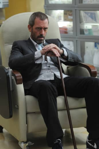 "Hugh Laurie as ""Dr. Gregory House"" on House."