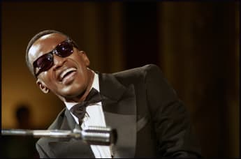 "Jamie Foxx as Ray Charles in the film ""Ray""."