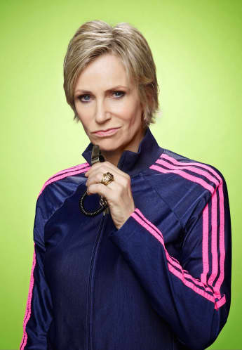 "Jane Lynch starred in the series ""Glee"""