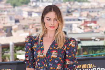 "Margot Robbie during the photocall of film ""Once Upon a Time in Hollywood""."