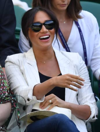 Meghan Markle, Duchess of Sussex at the 2019 Wimbledon Championships.