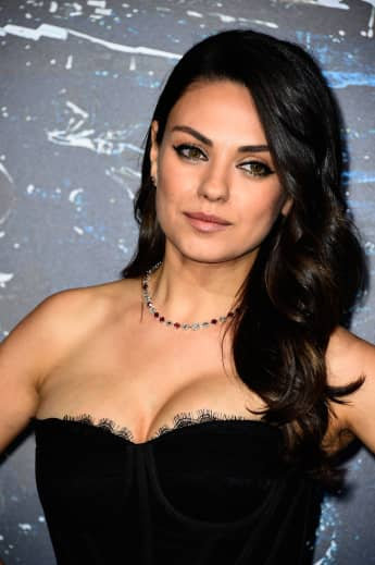 "Actress Mila Kunis arrives at the Premiere of Warner Bros. Pictures' ""Jupiter Ascending"" at TCL Chinese Theatre on February 2, 2015"