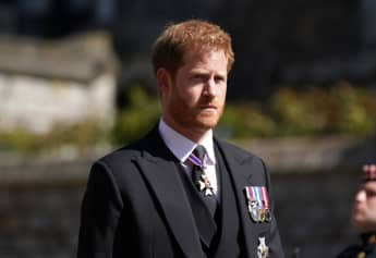 Prince Harry final meeting Prince Charles leaving UK after Prince PHilip funeral home pregnant Meghan