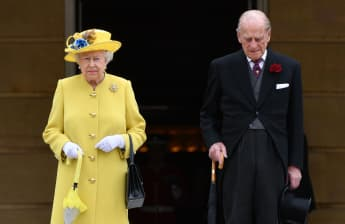 Queen Elizabeth and Prince Philip Returning to Buckingham Palace in 2021