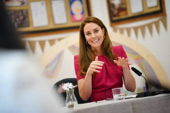 Reporters Ask Duchess Kate About Baby Lilibet Diana Harry Meghan daughter newborn girl Prince William Queen royal family 2021