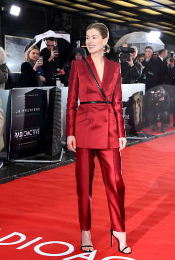 """Rosamund Pike attends the """"Radioactive"""" UK Premiere."""