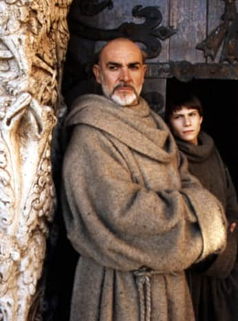 "Sean Connery and Christian Slater in ""The Name of the Rose"""