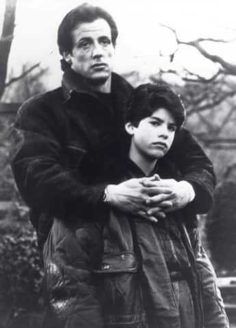 """Sylvester and Sage Stallone in """"Rocky V"""""""
