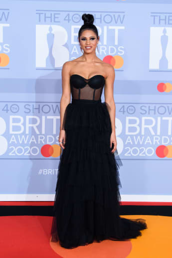 Vick Hope attends The BRIT Awards 2020.