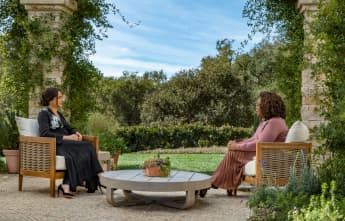 This Is Where Oprah with Meghan and Harry Was Filmed mansion home house California Gayle King interview