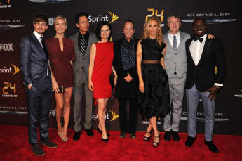 """The Cast Of """"24"""" at the premiere"""