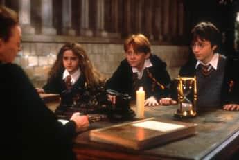 Hermione, Ron y Harry en Harry Potter