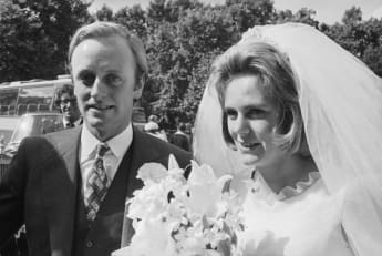 Andrew Parker-Bowles and Duchess Camilla at their wedding