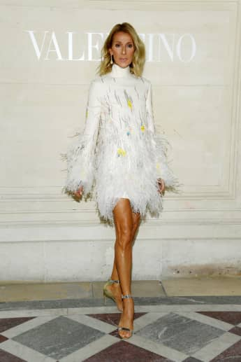 Celine Dion attends the Valentino Haute Couture Fall/Winter 2019 2020 show as part of Paris Fashion Week on July 03, 2019