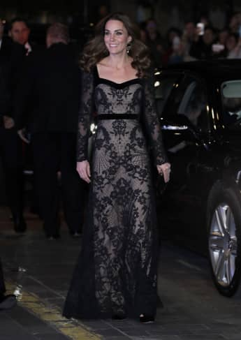Catherine, Duchess of Cambridge attends the Royal Variety Performance with Prince William, Duke of Cambridge at the Palladium Theatre on November 18, 2019
